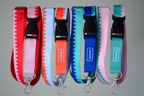 Helsinki Lanyards with full colour heat transfer print