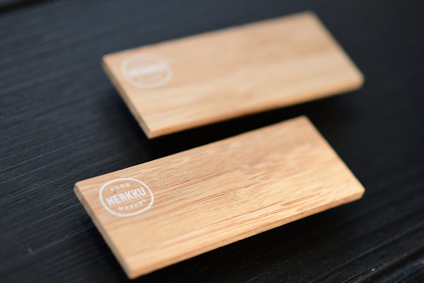 EcoSign Wooden Name Badge with Printed Logo