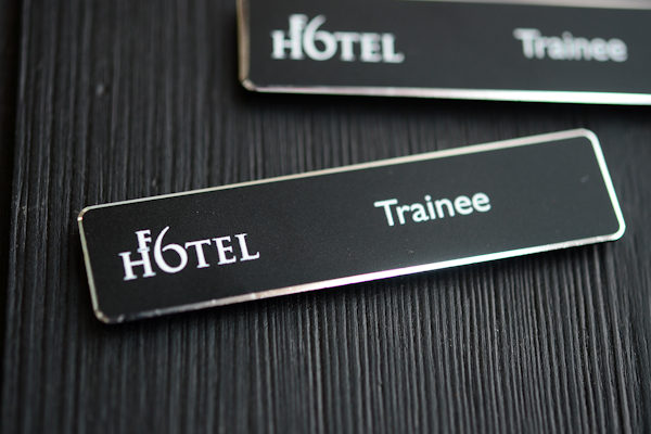 Elements aluminium namebadge