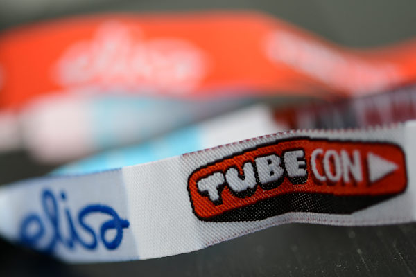 Woven fabric wristbands logo