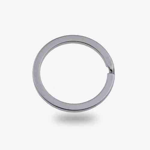 25mm Metal Flat keyring split ring