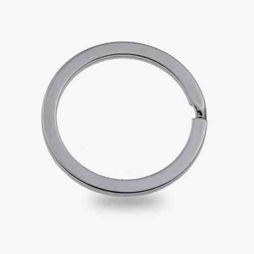 30mm Metal Flat keyring split ring